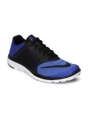 Nike Men Blue & Black FS Lite Run 3 Running Shoes
