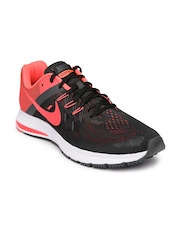 Nike Men Black & Coral Pink Zoom Winflo 2Training Shoes
