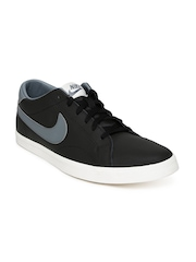 Nike Men Black Eastham Leather Sneakers