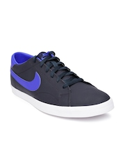 Nike Men Navy Leather Eastham Casual Shoes