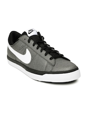 Nike Men Grey Leather Match Supreme Casual Shoes