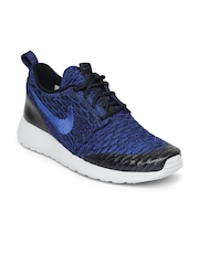 Nike Women Blue & Black Roshe One Flyknit Running Shoes