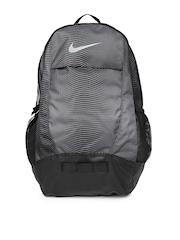 Nike Unisex Grey & Black Team Training Printed Backpack