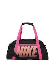 Nike Women Black Gym Club Printed Duffle Bag