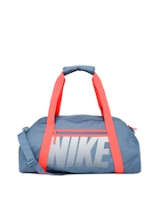 Nike Women Blue Gym Club Printed Duffle Bag