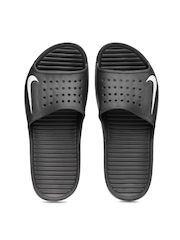 Nike Men Black Solarsoft Slide Sandals