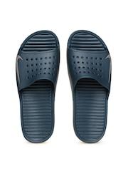Nike Men Teal Blue Solarsoft Slide Sandals