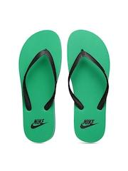 Nike Men Black & Green Aquaswift Flip-Flops