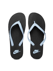 Nike Men Grey & Black Aquaswift Flip-Flops