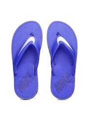 Nike Men Blue Flip-Flops