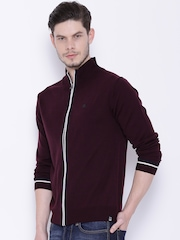Lee Burgundy Cardigan