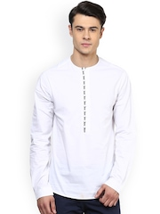 Atorse White Slim Fit Kurta