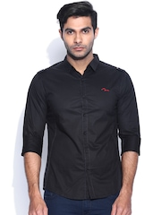 SPYKAR Black Casual Shirt
