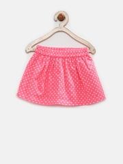 YK Infant Girls Pink Polka Dot Print Skirt