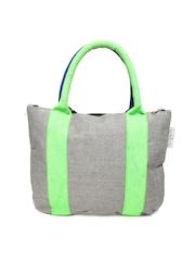Earthen Me Grey Jute Tote Bag