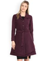 Athena Purple Layered Coat