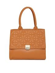 Lavie Rust Orange Quilted Handbag