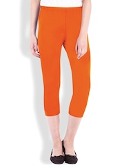 Beyouty Orange 3/4th Leggings