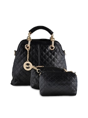 Dolse & Stela Black Quilted Handbag