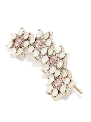 Accessorize Off-White & Pink Stone-Studded Ear Cuff