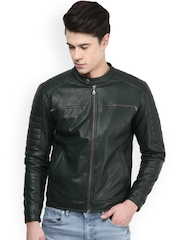Atorse Green Biker Jacket
