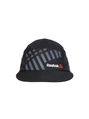 Reebok Women Black Printed OS PER Training Cap