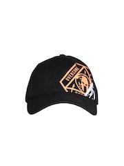 Reebok Unisex Black Printed Spartan Baseball Cap