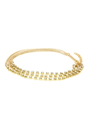 20Dresses Gold-Toned Stone-Studded Multistranded Chain Anklet