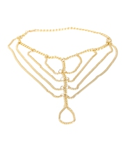 20Dresses Gold-Toned Multistranded Chain Anklet with Toe Ring