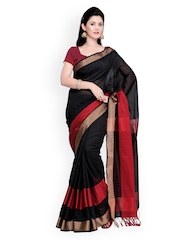 Bhelpuri Black Cotton Silk Traditional Saree