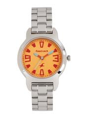 Fastrack Women Orange Dial Watch 6127SM02