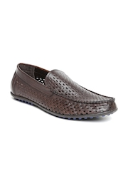 Bata Men Brown Cut-Out Loafers