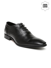 Hush Puppies Men Black Genuine Leather Oxfords