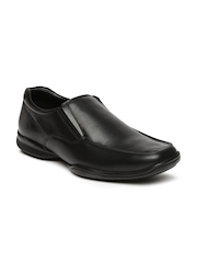 Hush Puppies Men Black Square-Toed Formal Slip-Ons