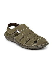 Hush Puppies Taupe Leather Sandals