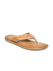 Hush Puppies by Bata Men Tan Brown Leather Sandals