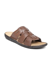 Hush Puppies by Bata Men Brown Leather Sandals