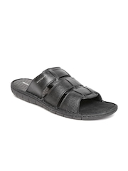 Hush Puppies by Bata Men Black Leather Sandals