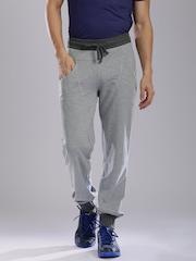 HRX by Hrithik Roshan Grey Melange Active Jogger Track Pants