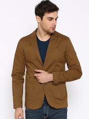 The Indian Garage Co Brown Single-Breasted Slim Blazer