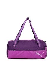 PUMA Unisex Purple Fundamentals Duffle Bag