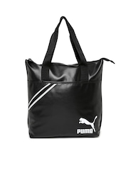 PUMA Black Archive Shopper Tote Bag