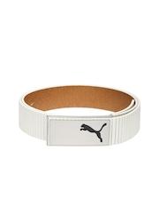 PUMA Men White Genuine Leather Belt