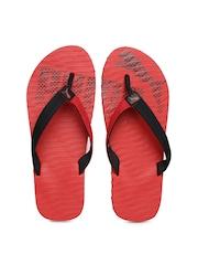 PUMA Unisex Red & Black Miami Flip-Flops