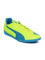 PUMA Men Neon Green & Blue evoSPEED 5.4 IT Football Shoes