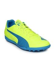 PUMA Men Neon Green evoSPEED 5.4 Indoor Football Shoes