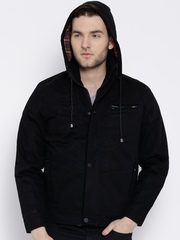 Fort Collins Black Jacket with Detachable Hood