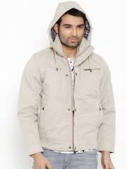 Fort Collins Taupe Jacket with Detachable Hood