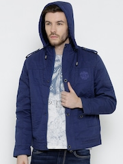 Fort Collins Blue Jacket with Detachable Hood