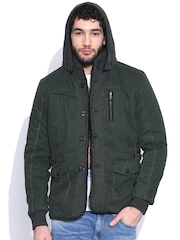 Fort Collins Olive Green Jacket with Detachable Hood
